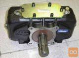 Multiplikator, razmerje 1:1.59, 600Nm, za pogon dveh črpalk