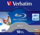 BLU-RAY 6x 25Gb 10-kos printable Verbatim
