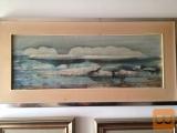 Prodajem sliku (akvarel) France Slana (Pokrajina)