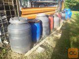 Plastični sodi s pokrovi za sadje 120L 150L 200l