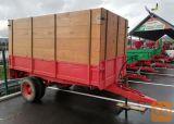 Traktorska enoosna kiper prikolica s poviški, 4500 kg
