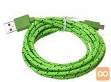 Micro USB pleten kabel 3m